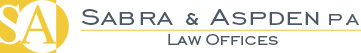 Website of the Law Offices of Sabra and Aspden